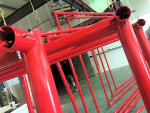 Red Powder Coating